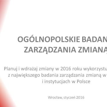 Raport - Ogólnopolskie Badanie Zarządzania Zmianą