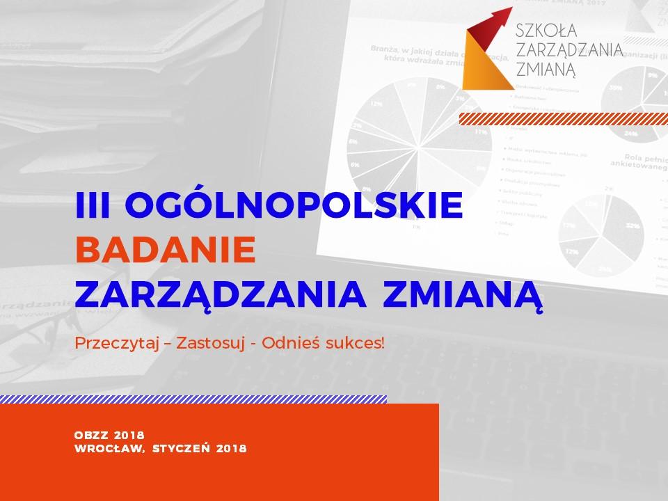 Ogólnopolskie Badanie Zarządzania Zmianą 2018 - raport