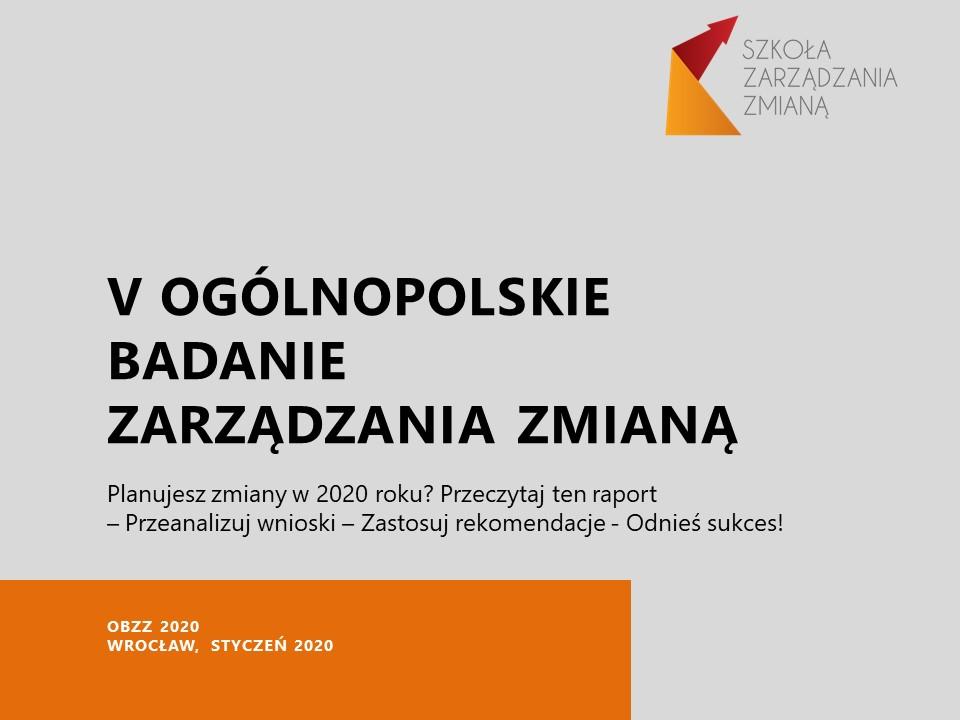 OBZZ2020 - Ogólnopolskie Badanie Zarządzania Zmianą